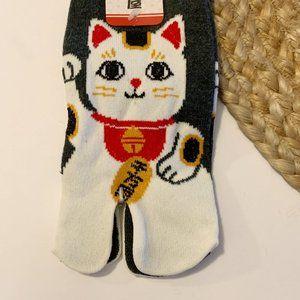 Shoes - 3/$23 White Cat Big Toe Socks NWT